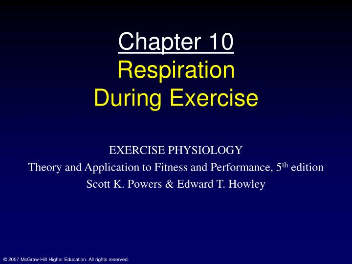 chapter 10 respiration during exercise n.