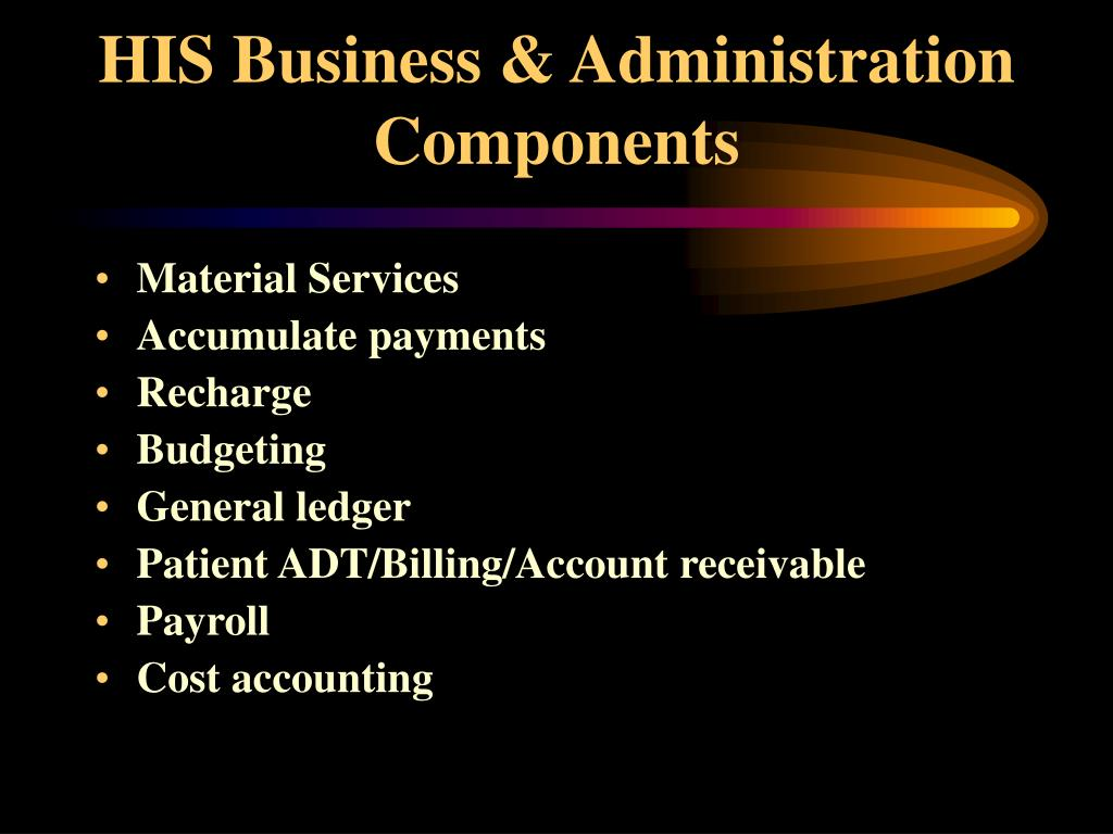 HIS Business & Administration Components