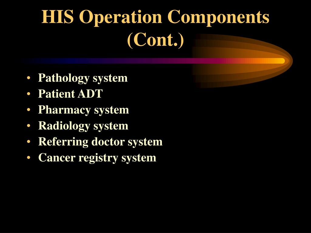 HIS Operation Components (Cont.)