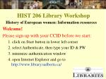 hist 206 library workshop