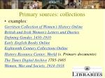 primary sources collections