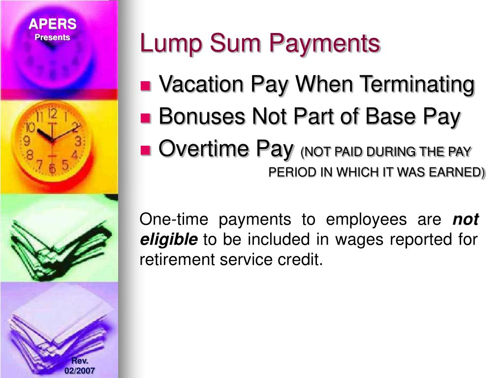 Lump Sum Payments