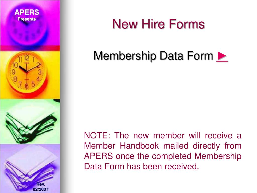 New Hire Forms