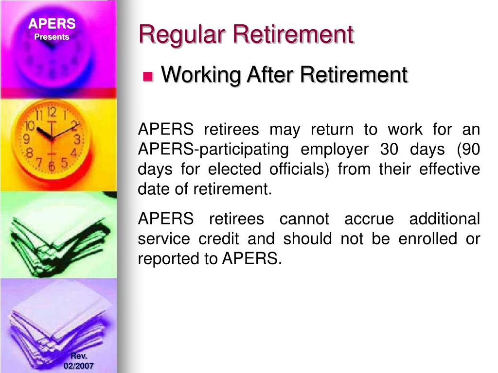 Regular Retirement
