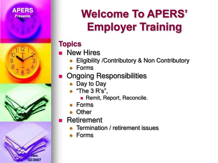 Welcome to apers employer training