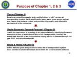 purpose of chapter 1 2 3