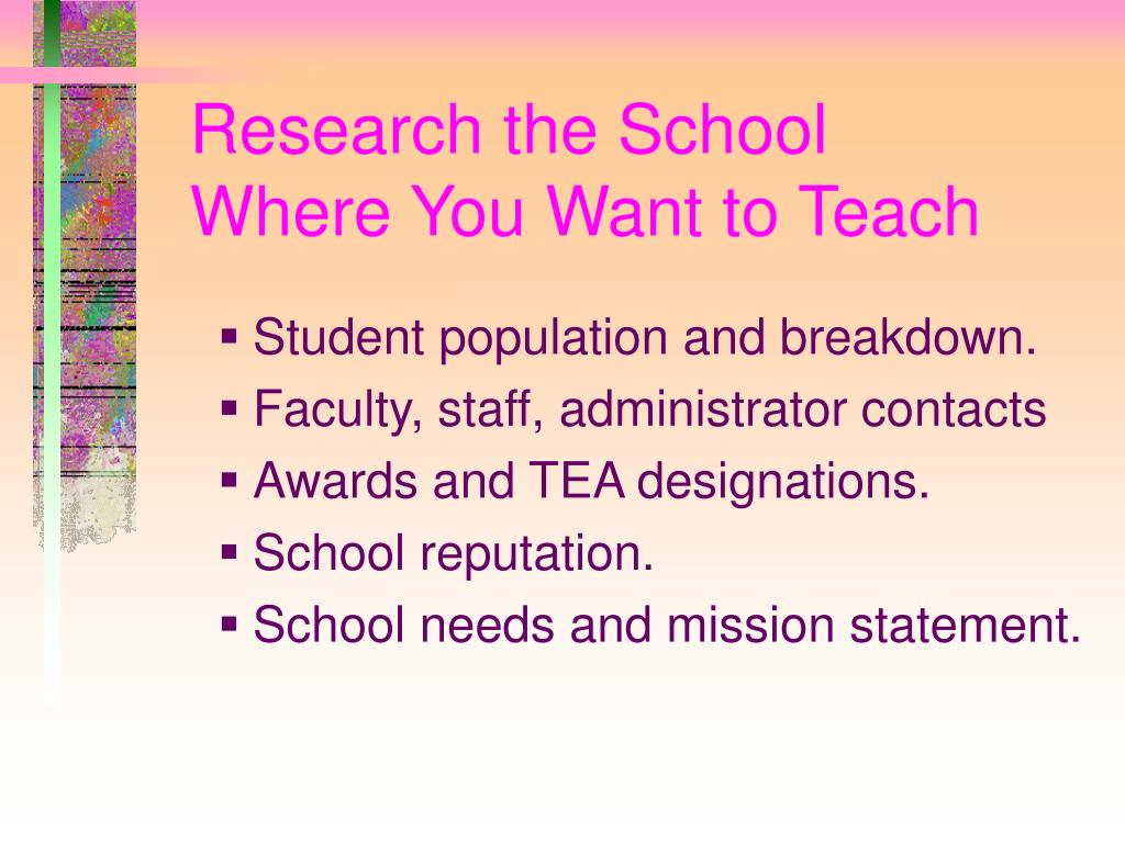 Research the School