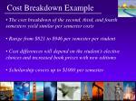 cost breakdown example13