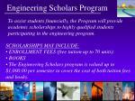 engineering scholars program