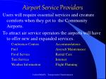 airport service providers