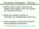 prevention strategies training