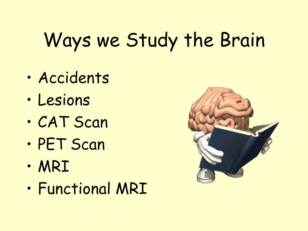 Ways we Study the Brain