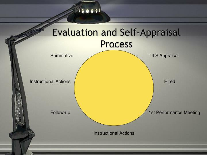 Evaluation and self appraisal process