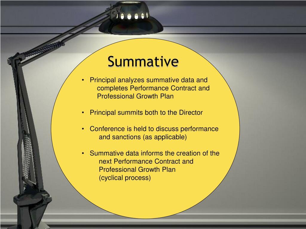 Principal analyzes summative data and