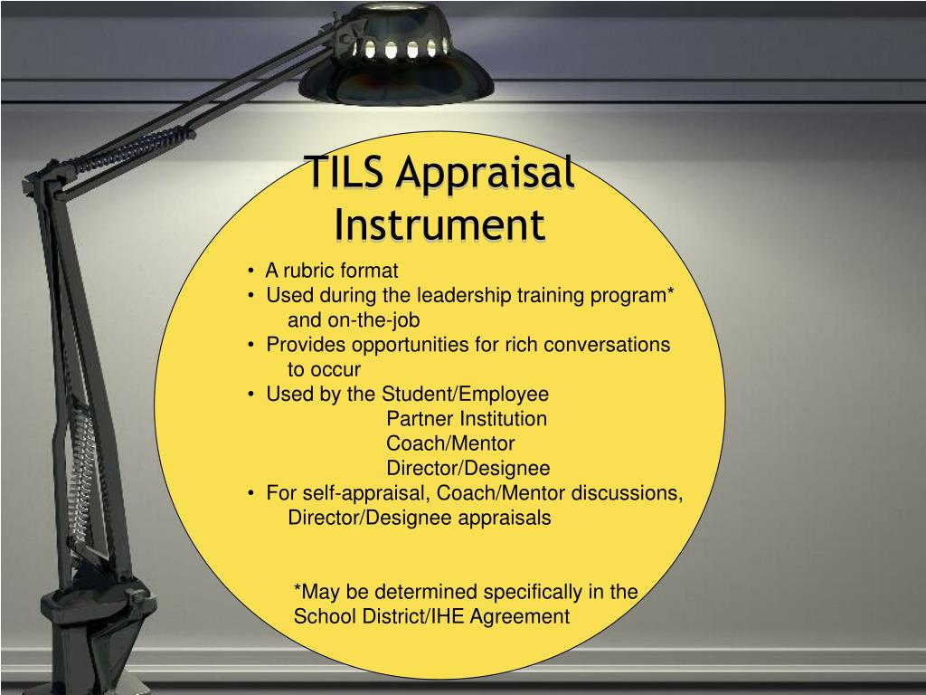 TILS Appraisal
