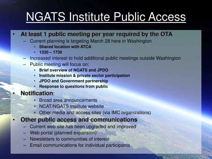 Ngats institute public access