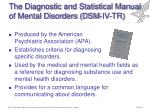 the diagnostic and statistical manual of mental disorders dsm iv tr