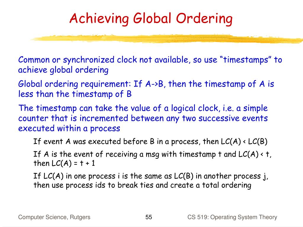 Achieving Global Ordering