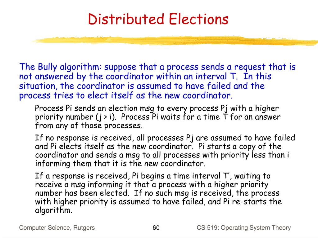 Distributed Elections