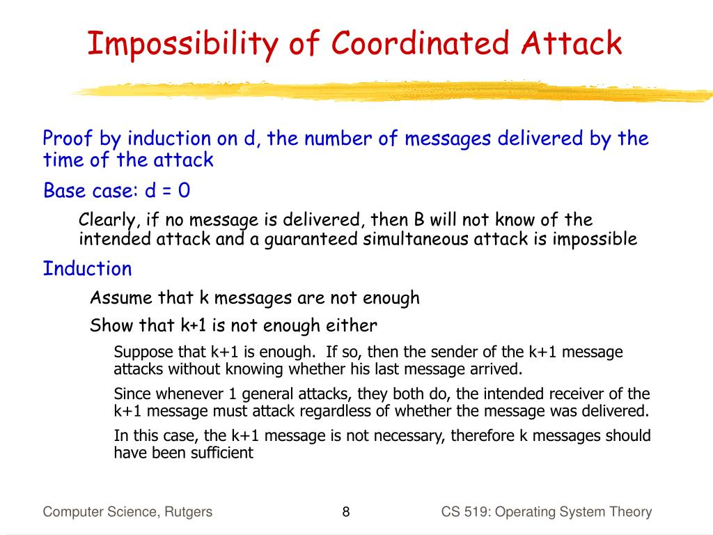 Impossibility of Coordinated Attack