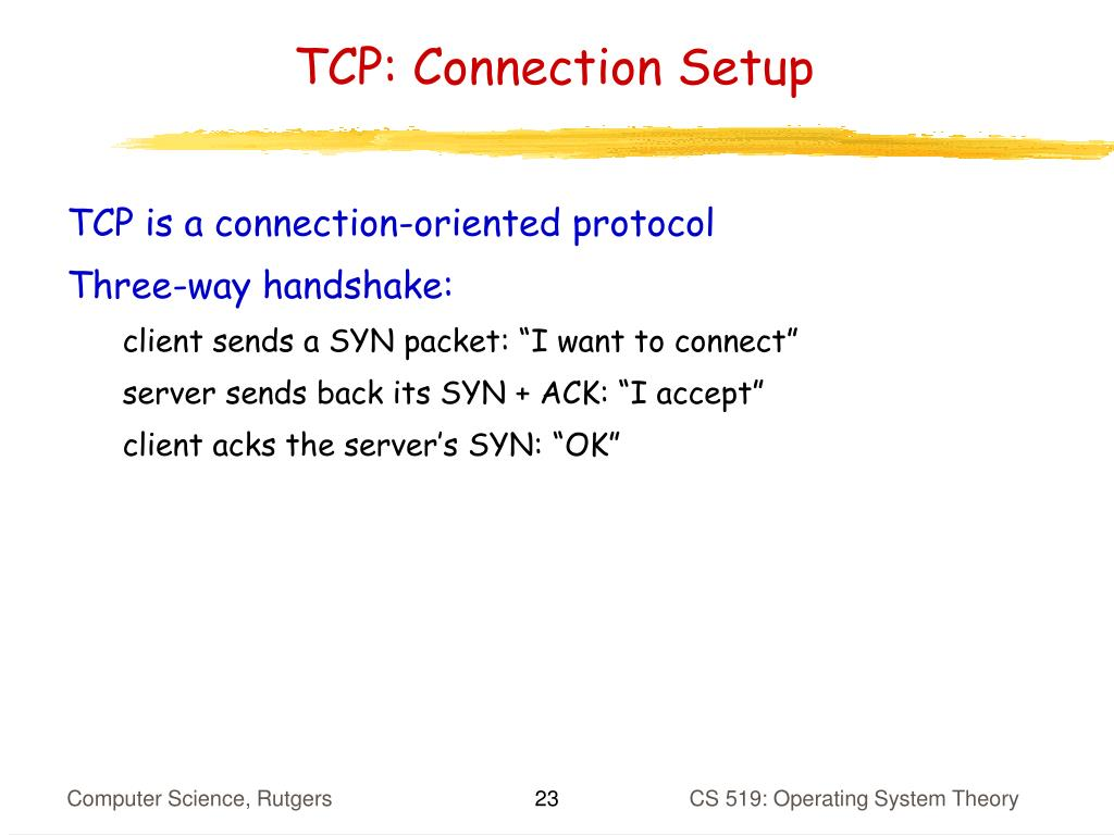 TCP: Connection Setup