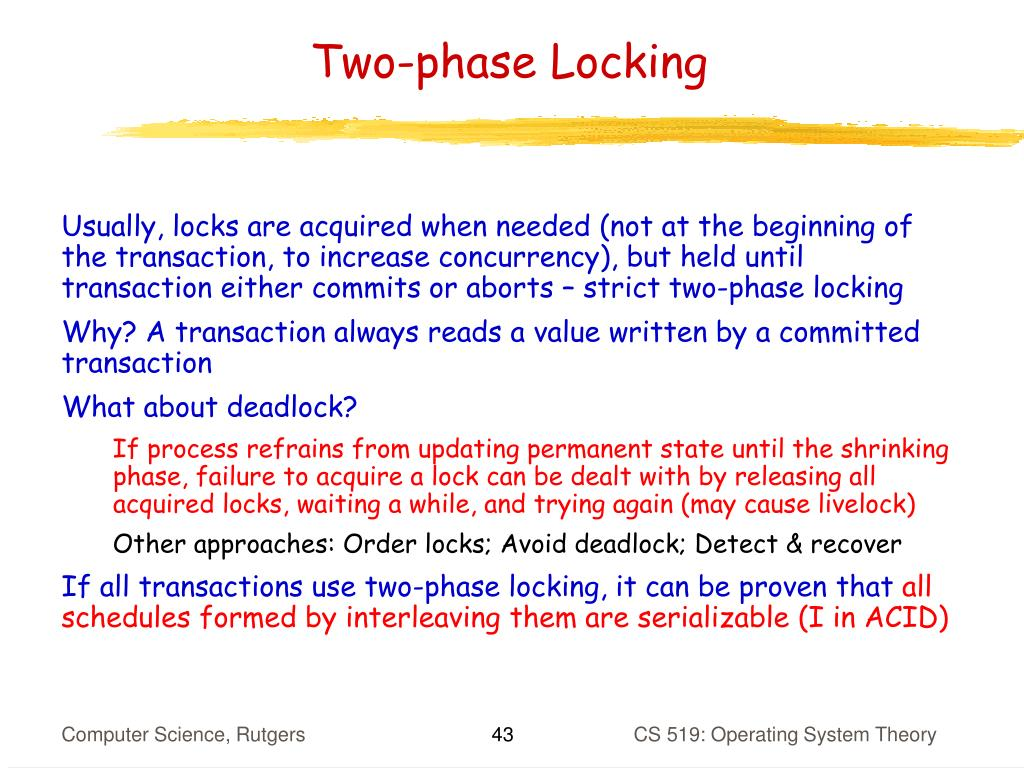 Two-phase Locking