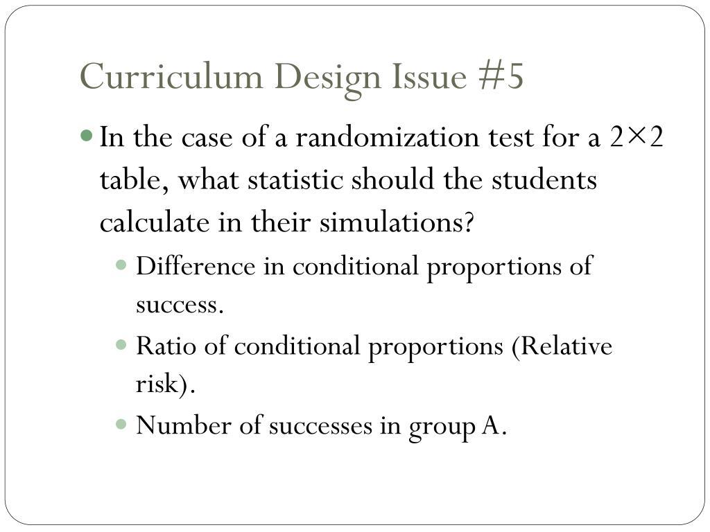 Curriculum Design Issue #5