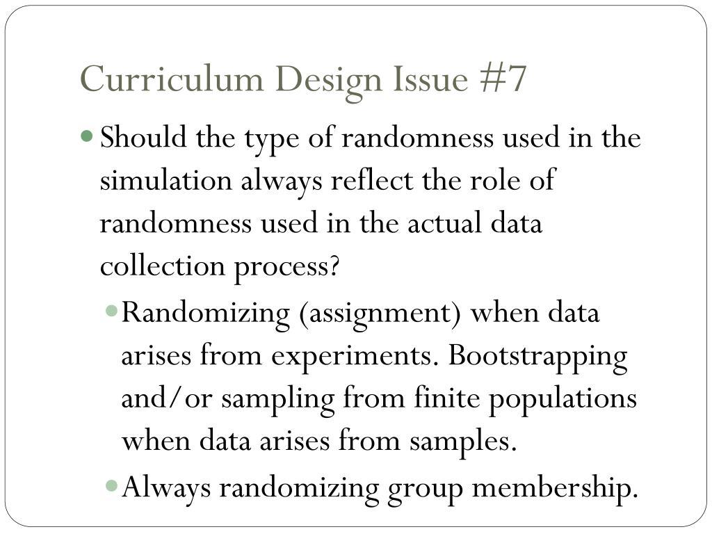 Curriculum Design Issue #7