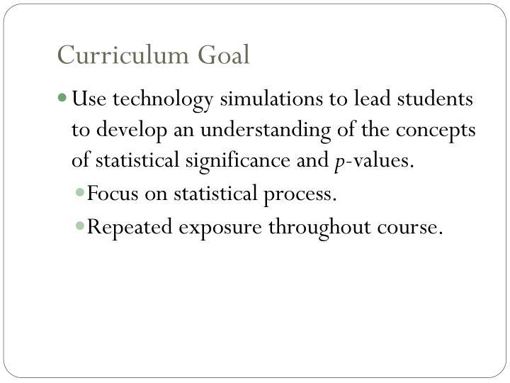 Curriculum goal