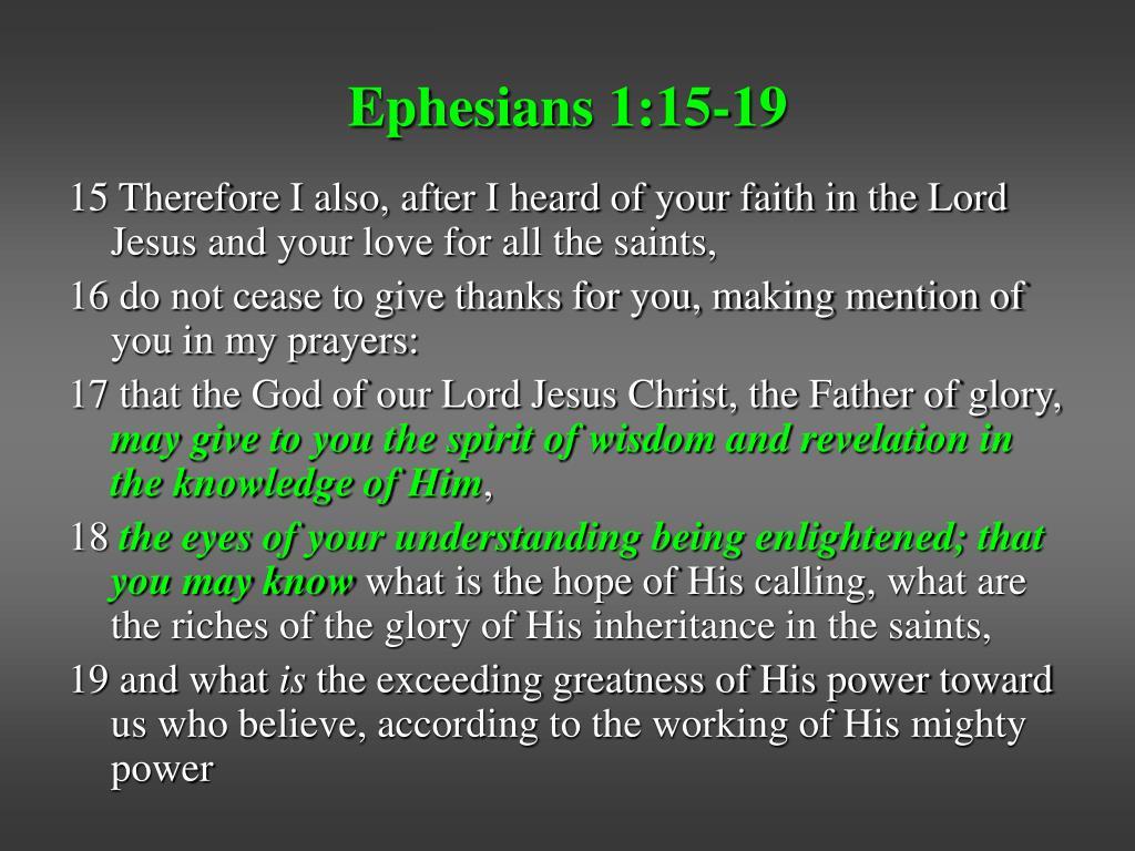 Ephesians 1:15-19