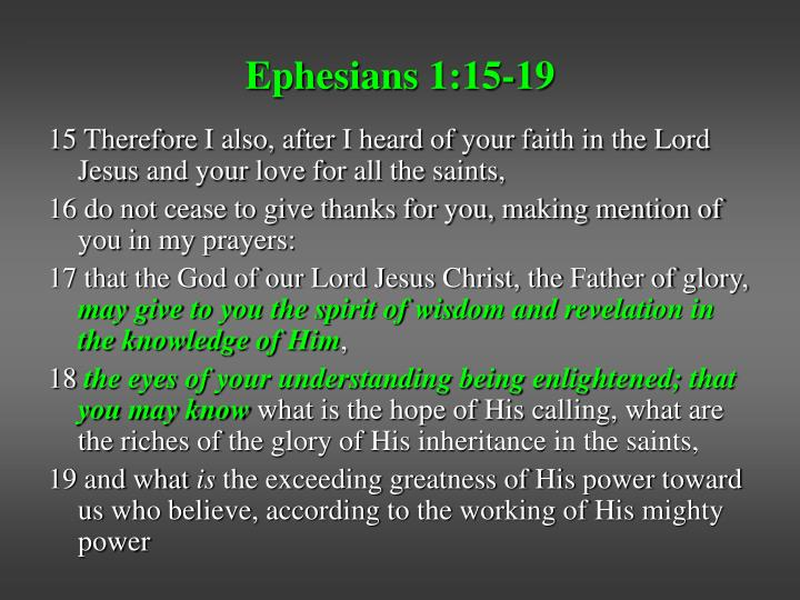 Ephesians 1 15 19