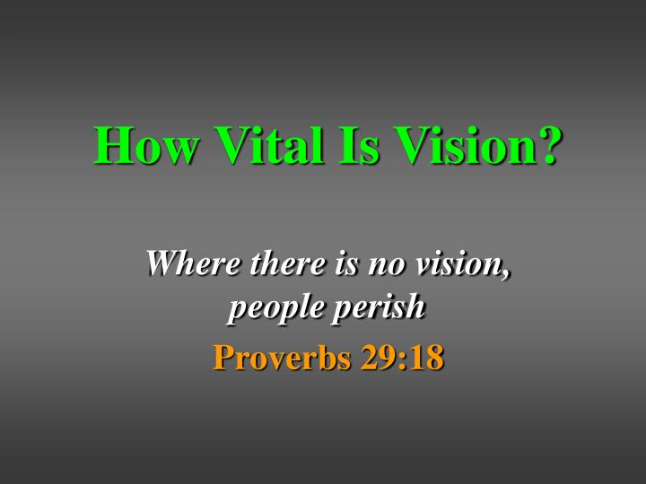 How vital is vision