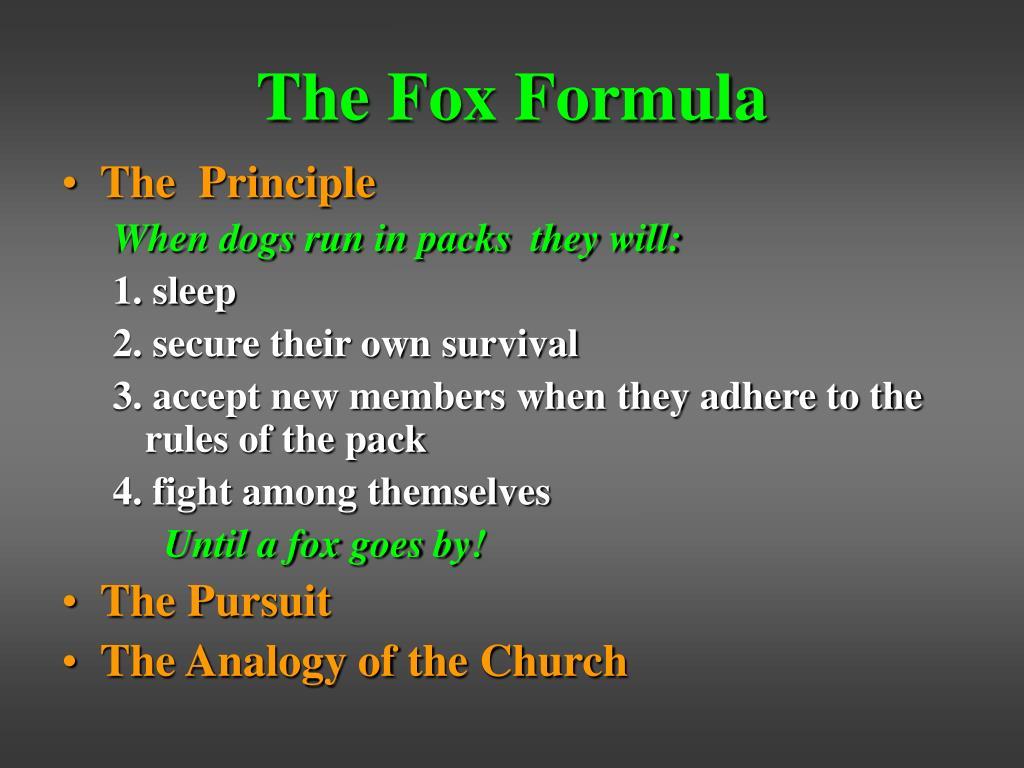 The Fox Formula