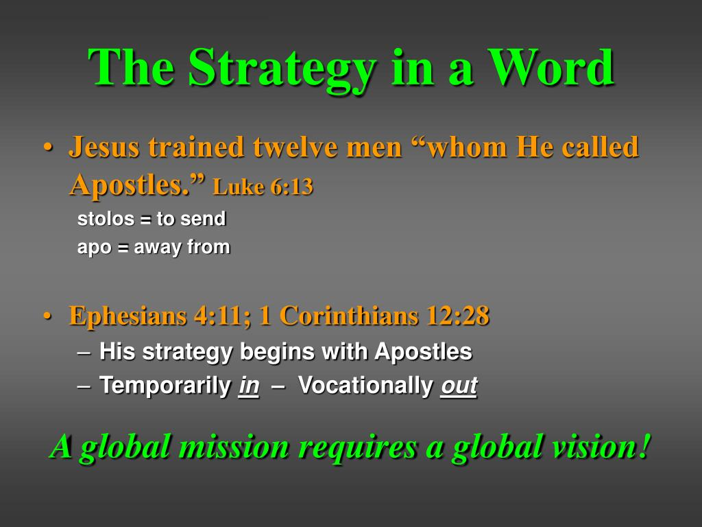 The Strategy in a Word