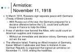 armistice november 11 1918