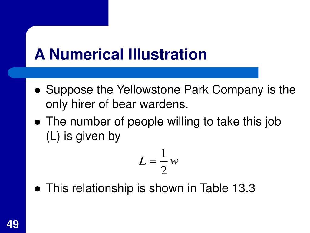 A Numerical Illustration