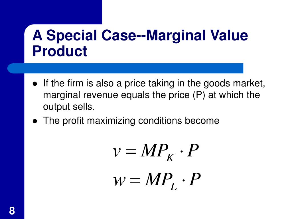 A Special Case--Marginal Value Product