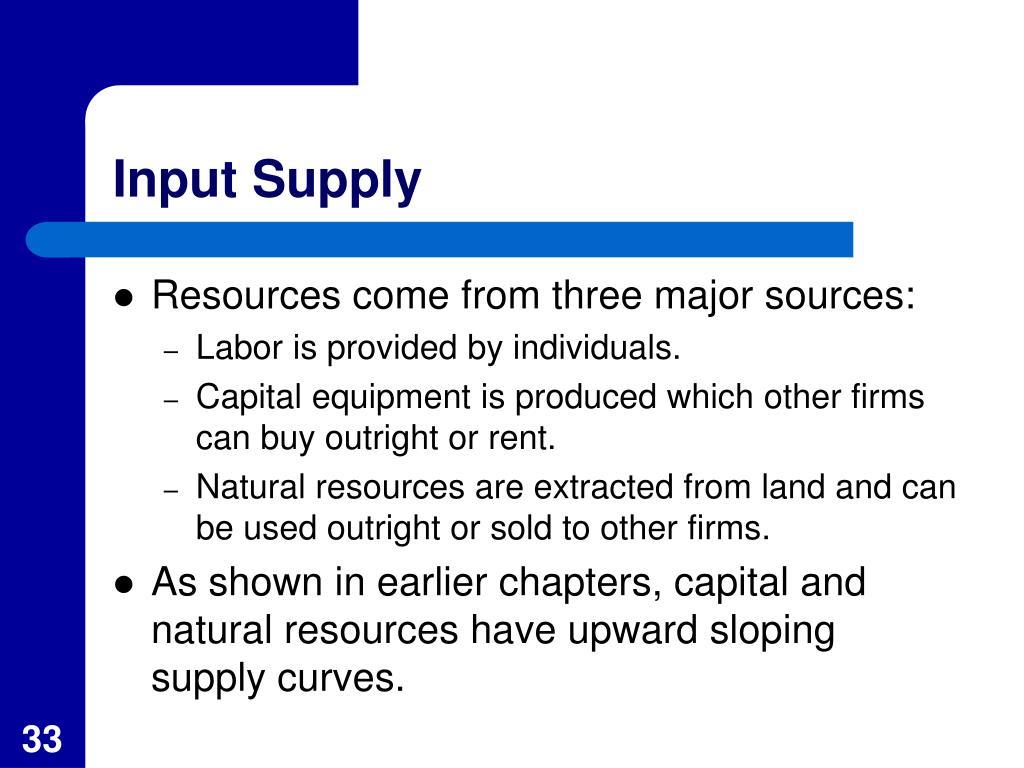 Input Supply
