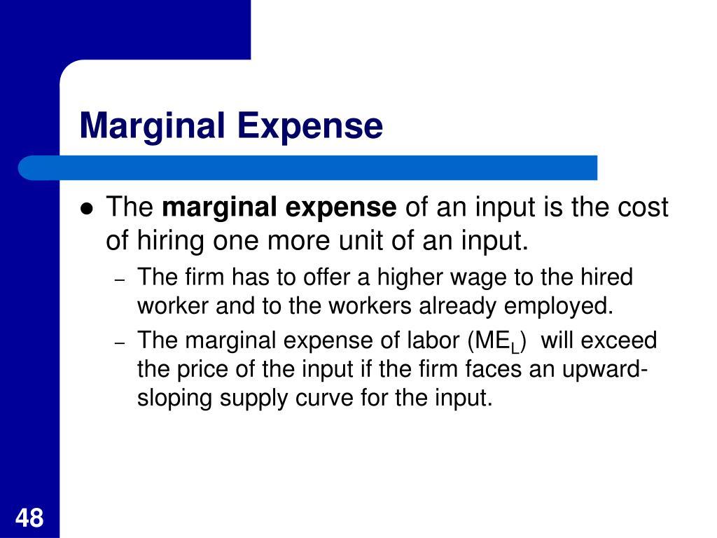 Marginal Expense