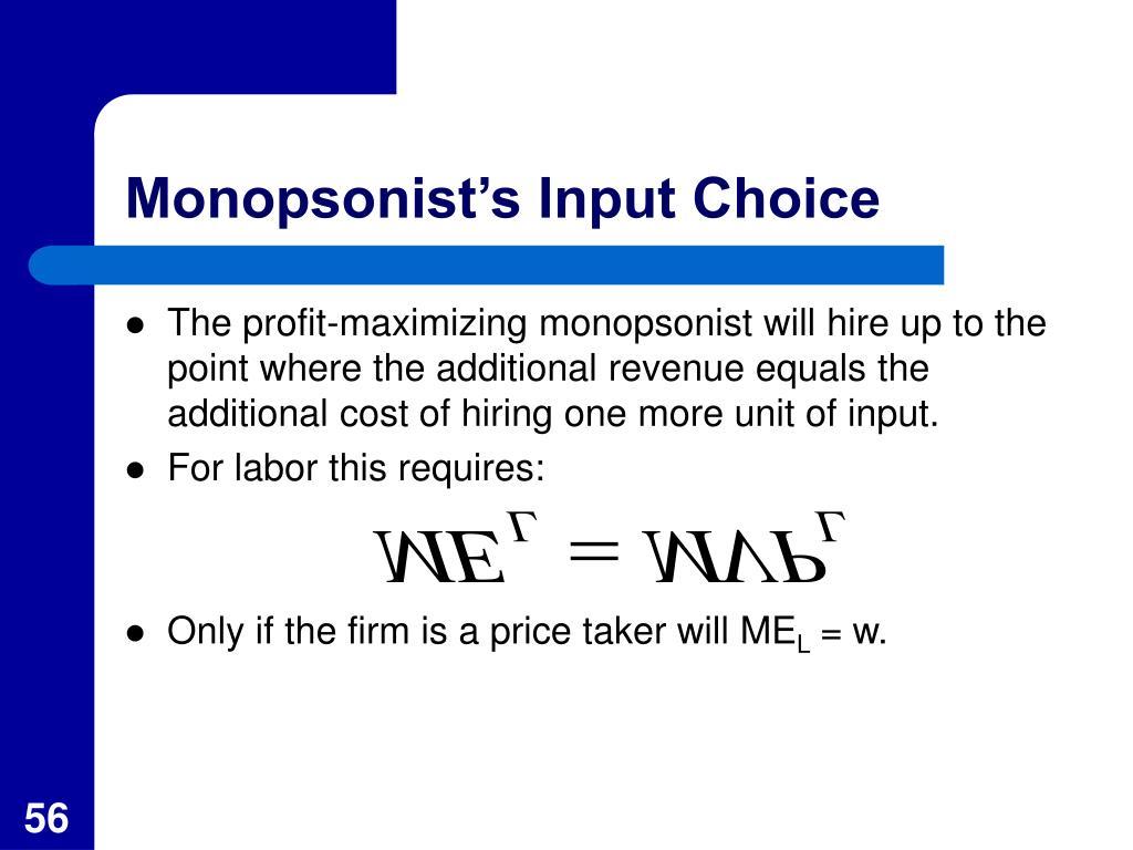 Monopsonist's Input Choice