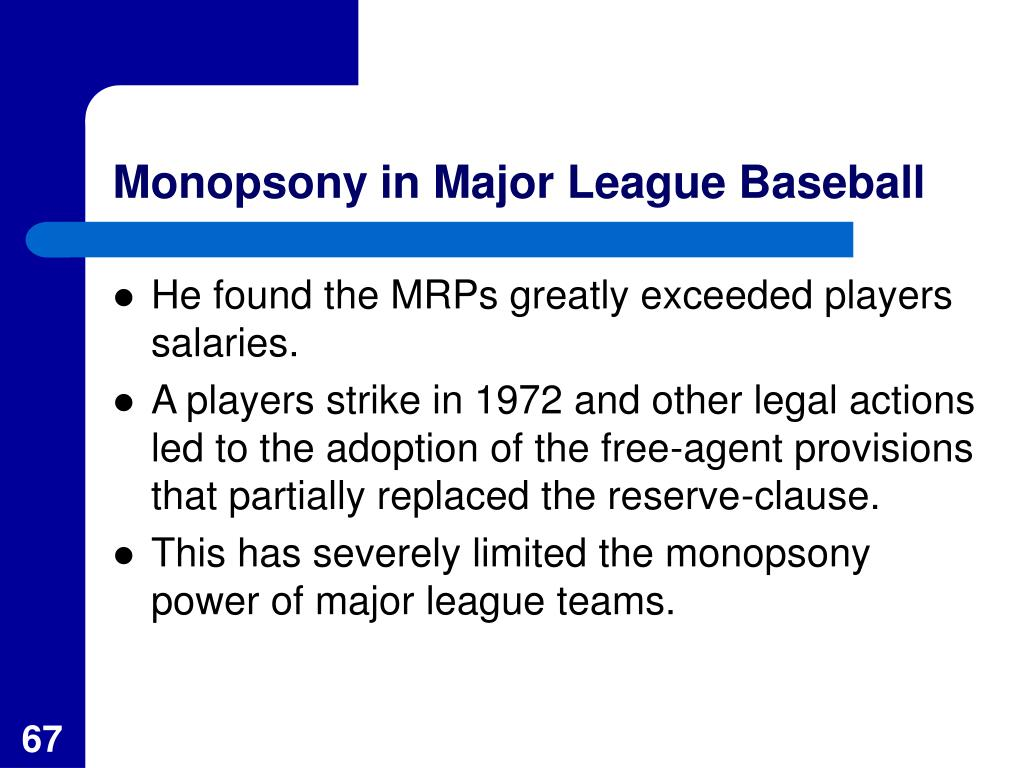 Monopsony in Major League Baseball
