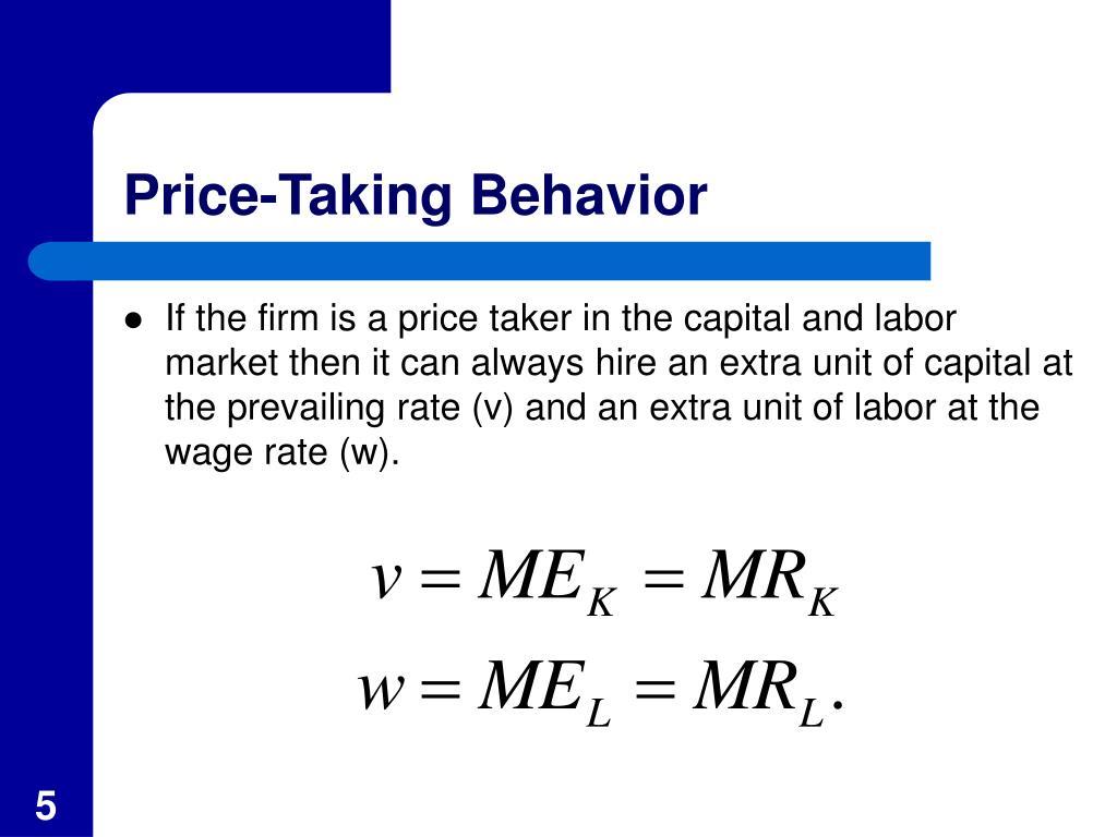 Price-Taking Behavior