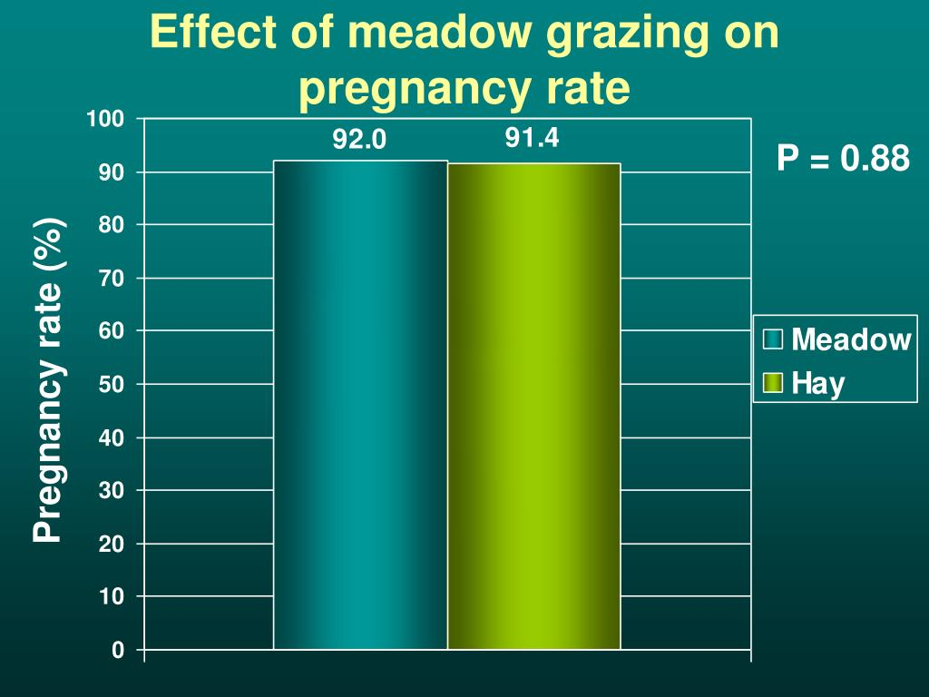Effect of meadow grazing on