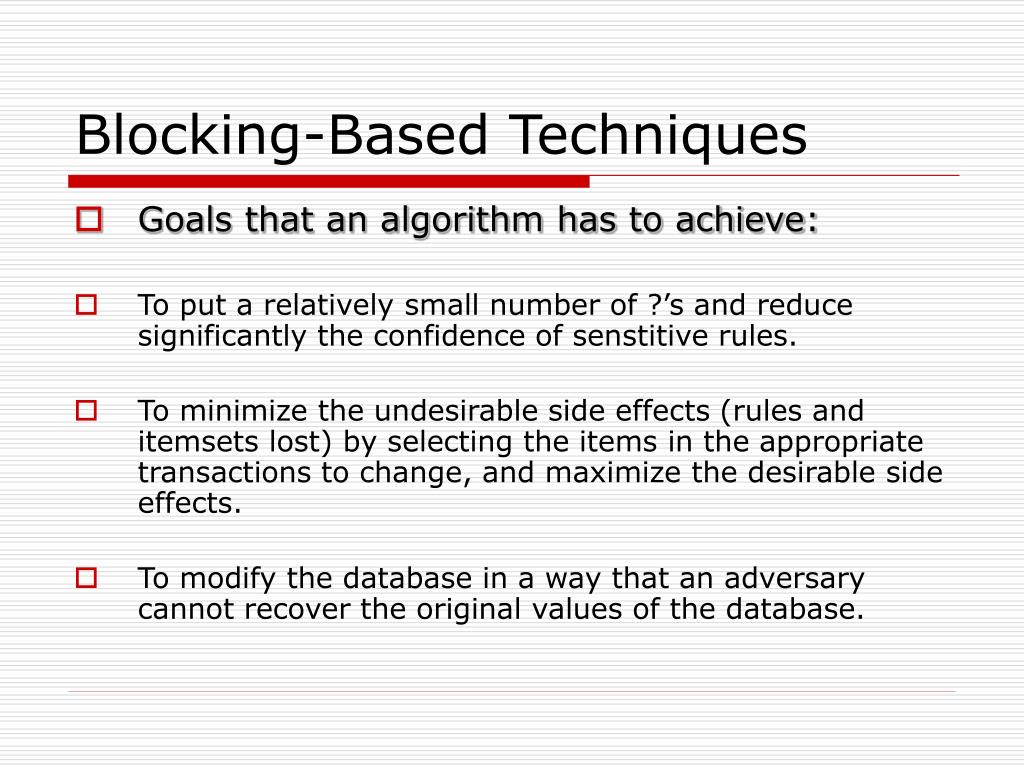 Blocking-Based Techniques