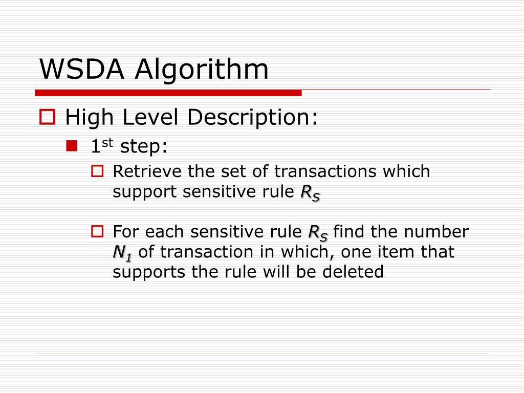 WSDA Algorithm