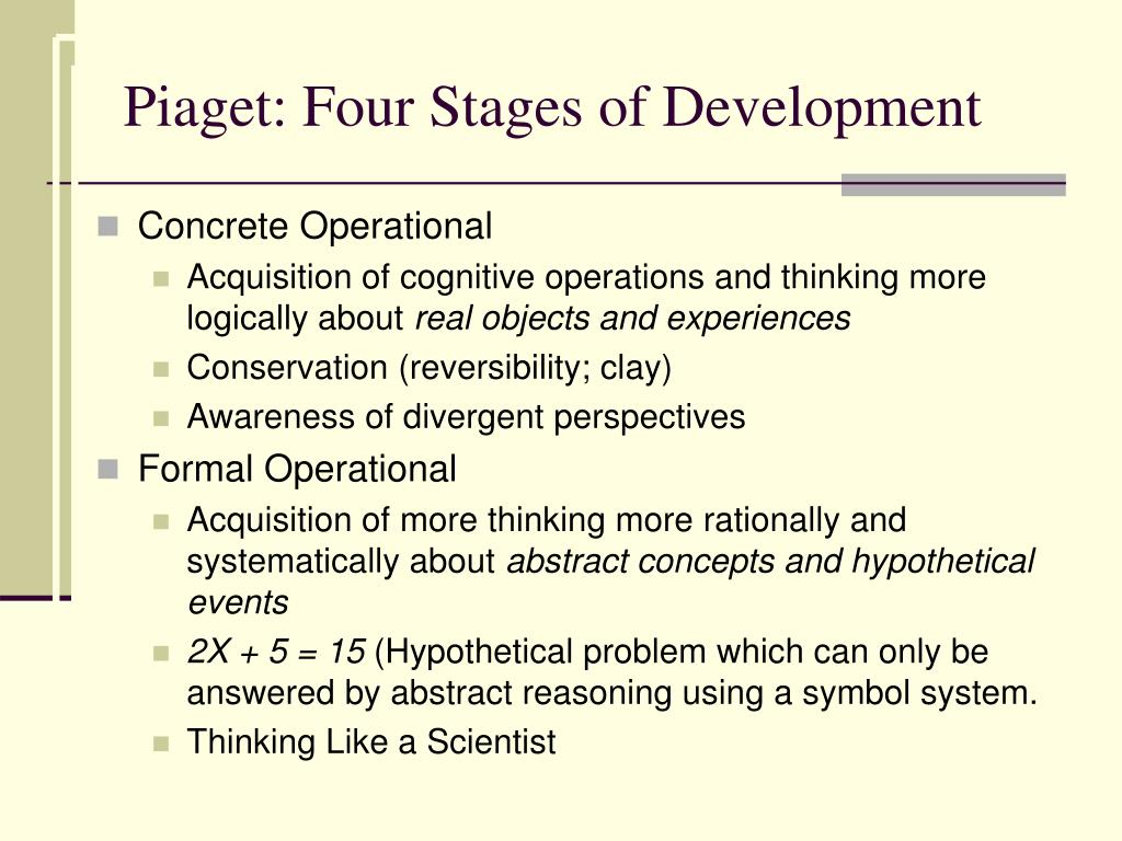 Piaget: Four Stages of Development