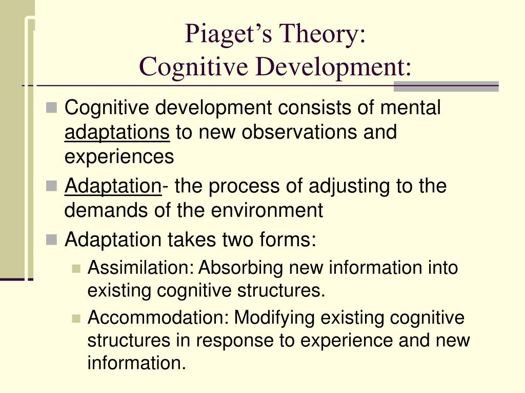 Piaget's Theory: