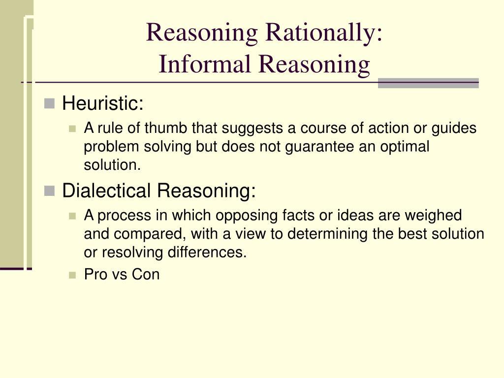 Reasoning Rationally:
