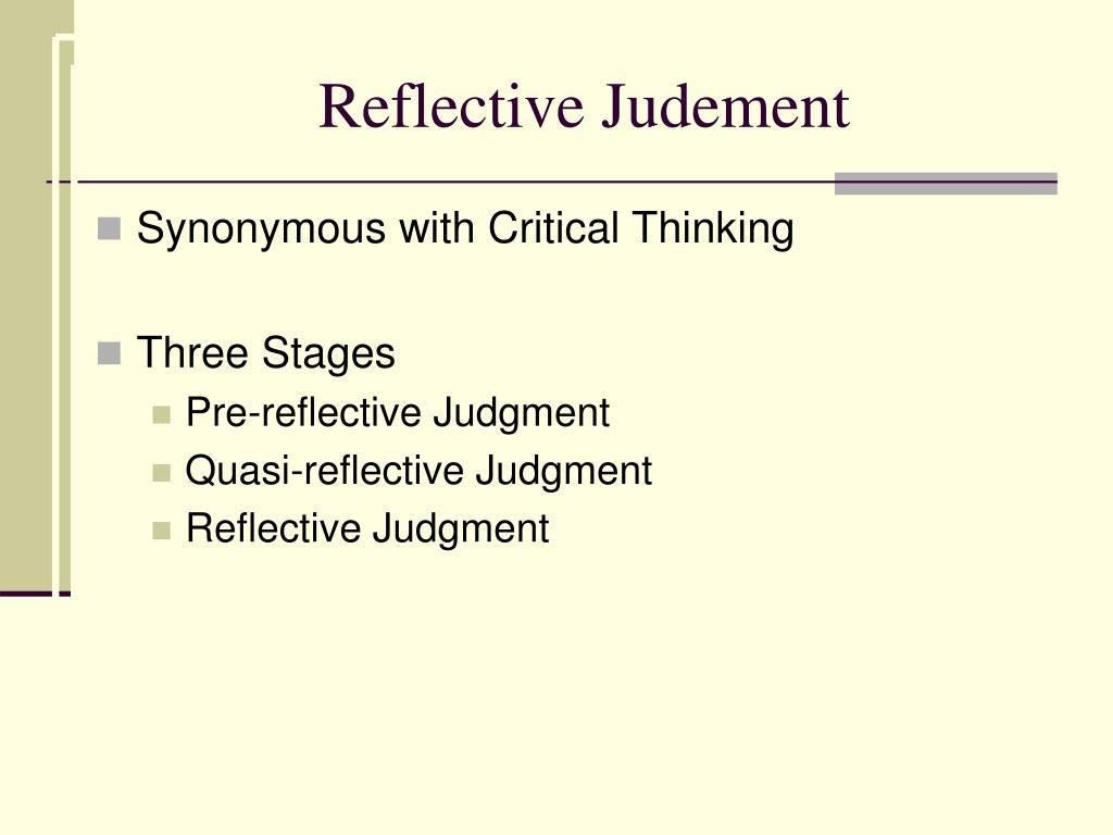 Reflective Judement
