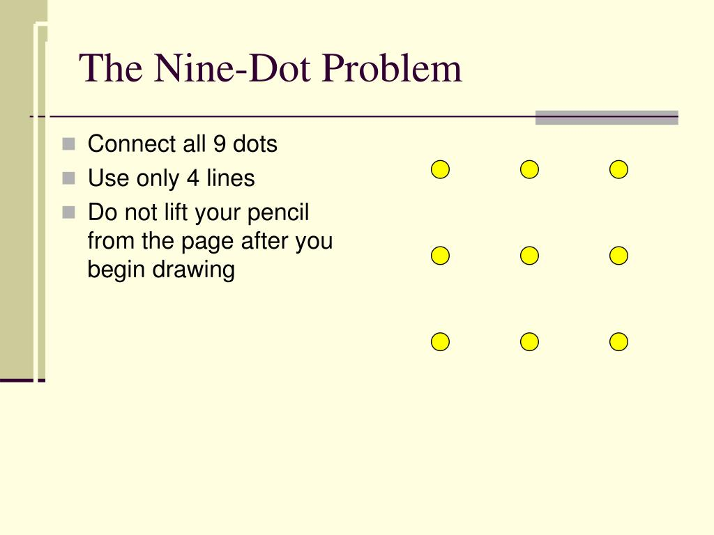 Connect all 9 dots